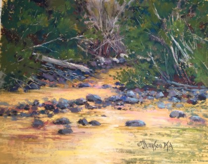 River Of Gold 11x14 pastel 795